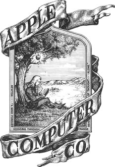Steve Jobs Photo 6 - Apple's first logo - Celebrity Fun Facts