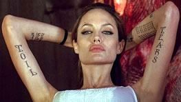 Angelina Jolie Photo 5 - Tattoos - Celebrity Fun Facts