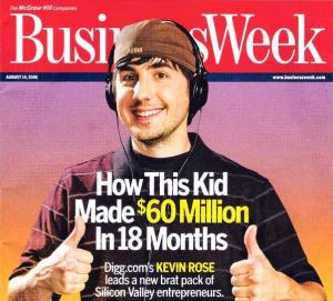 Kevin Rose on Cover of Business Week