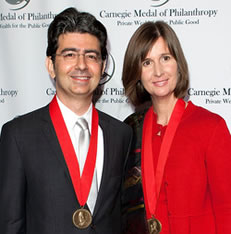 Pierre Omidyar and Pamela Wesley