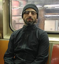 Sergey Brin Photo 6 - Google Glass NYC Subway - Celebrity Fun Facts